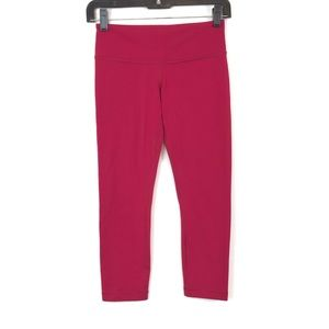 🍁Lululemon Wunder Under Crop Hot Pink Leggings